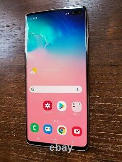 1TB Samsung Galaxy S10+ Plus G975U (Unlocked/AT&T) Ceramic White LIGHT LCD BURN