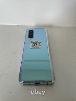 AT&T Samsung Galaxy Fold F900U 512GB 7.3 Cosmos Blue Powers On Bad LCD 5E