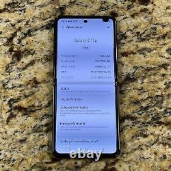 CRACKED LCD & BACK Samsung Galaxy Z Flip UNLOCKED WORLDWIDE Clean ESN #36