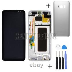For Samsung Galaxy S8+ Plus G955F LCD Display Touch Screen +frame silver+cover