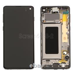 Für Samsung Galaxy S10 G973F LCD Display Touch Screen Bildschirm+Rahmen Schwarz