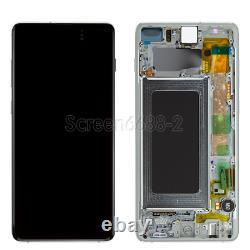 Für Samsung Galaxy S10+ Plus G975F LCD Display Touch Screen Glas Bildschirm Weiß