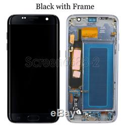 Für Samsung Galaxy S7 Edge G935F LCD Display Screen Bildschirm + Rahmen Schwarz