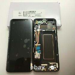 GENUINE SAMSUNG GALAXY S8 G950 G950f BLACK LCD SERVICE PACK NEW SCREEN DISPLAY