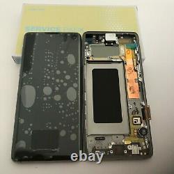 Genuine Samsung Galaxy S10 Sm- G973f Black LCD Service Pack Display Screen
