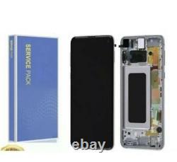 Genuine Samsung Galaxy S10 Sm-g973f Black LCD Service Pack Display Screen G973