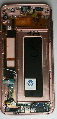 Genuine Samsung Galaxy S7 Edge G935f LCD Screen Display Rose Gold Full Housing