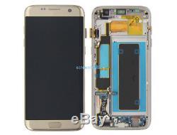 Lcd Display Touch Screen Schermo+Telaio Per Samsung Galaxy S7 Edge SM-G935F Oro