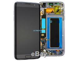 Lcd Display Touch Screen+Telaio Per Samsung Galaxy S7 Edge SM-G935F Nero+Tool