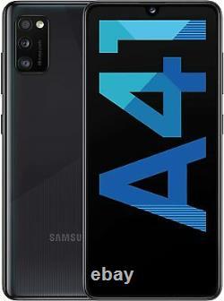 New Samsung Galaxy A41 Black 64GB 4G 48MP Dual Sim 6.1 LCD Unlocked Smartphone