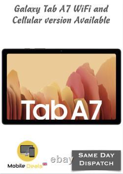 New Samsung Galaxy Tab A7 10.4 32GB WiFi Only & 4G LTE Version Unlocked Tablet