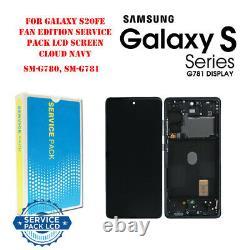 Oem Samsung Galaxy S20 Fe/fe 5g Amoled LCD Display+touch Screen Digitizer Frame