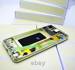 Original SAMSUNG Galaxy S10E G970 CANARY GELB LCD Display Bildschirm Rahmen NEU