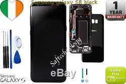 Original Samsung Galaxy Black S8 G950F LCD Display Touch Screen Digitizer+ frame