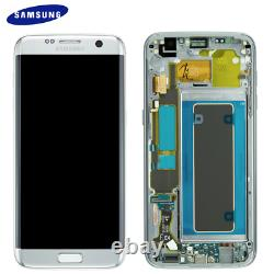 Original Samsung Galaxy S7 EDGE G935F LCD Display Touch Screen Bildschirm Silber