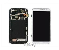 Pantalla Completa LCD Para Samsung Galaxy Mega 6.3 Blanco Con Marco Metalico