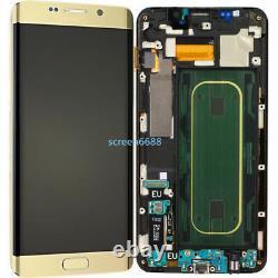 Pour Samsung Galaxy S6 Edge+ Plus G928F écran LCD Vitre Tactile+Cadre Gold+Tool