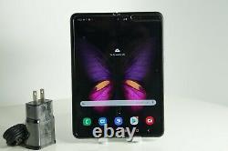 READ Samsung Galaxy Fold SM-F900U1 512GB Unlocked Black with Black Spot Lcd