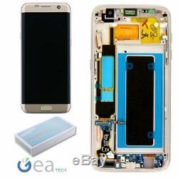 SAMSUNG Display LCD Originale + Touch Screen Per Galaxy S7 Edge SM-G935F Gold