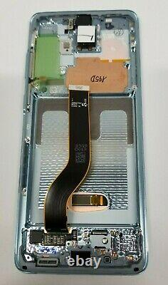 SAMSUNG Galaxy S20 5G plus Blue LCD Touch Screen Digitizer Frame G986 OEM S20+