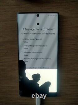 Samsung Galaxy Note 10+ultra 5G 256GB Aura Glow Unlocked (Damaged LCD display)