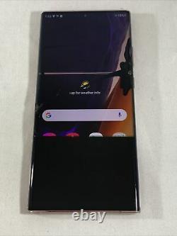 Samsung Galaxy Note20 Ultra 5G 128GB (Unlocked) Cracked Lcd Clean Esn (Read)2138