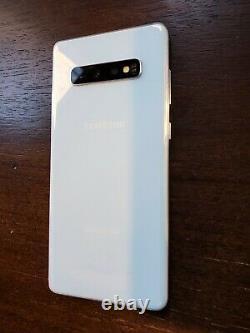 Samsung Galaxy S10+ Plus G975F/DS Dual SIM (Unlocked) 128GB White LINES ON LCD