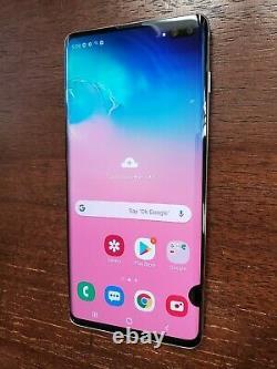 Samsung Galaxy S10+ Plus SM-G975U (Unlocked/Sprint) 128GB White SPOTS ON LCD