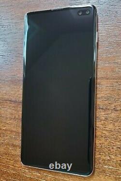 Samsung Galaxy S10+ Plus SM-G975U (Unlocked/T-Mobile) 128GB White LIGHT LCD BURN
