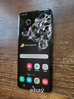 Samsung Galaxy S20 Ultra SM-G988U (Unlocked/AT&T) 128GB Black SPOTS ON LCD