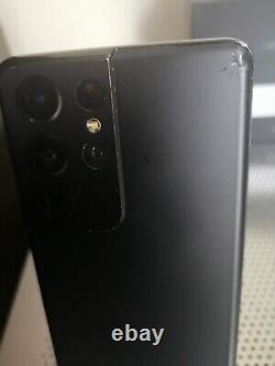 Samsung Galaxy S21 Ultra 128gb Black Unlocked DAMAGED LCD / BACK