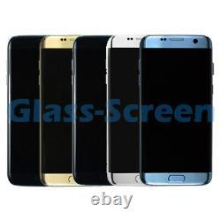 Samsung Galaxy S7 Edge G935F LCD Screen Digitizer Frame Black Blue Gold Silver