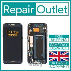 Samsung Galaxy S7 Edge G935F Replacement LCD Touch Screen Full Frame (Black)