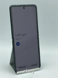 Samsung Galaxy Z Flip 256GB Mirror Black Sprint Financed LCD Damage Good Cond