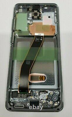 Samsung galaxy S20 Silver LCD Screen Touch Screen Digitizer + Frame G980 OEM New