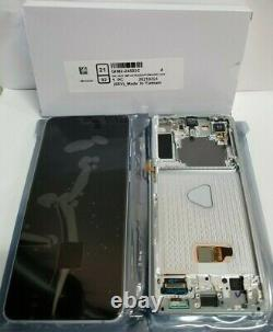 Samsung galaxy S21 Plus 5G Silver LCD Touch Screen Digitizer Frame G996 OEM NEW